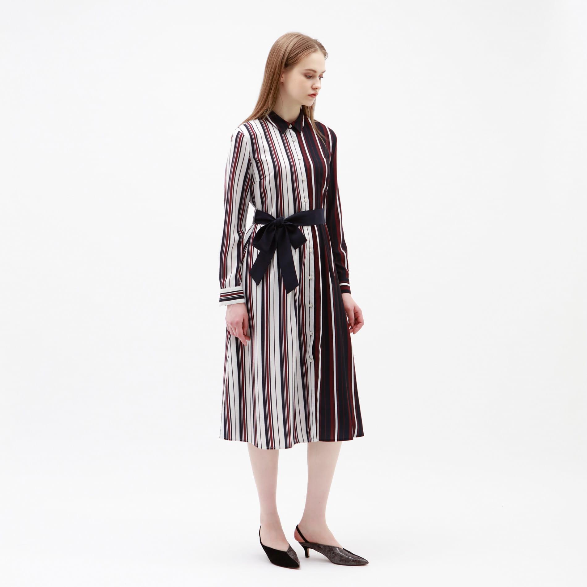 【予約販売】スプリット バイカラー ドレス