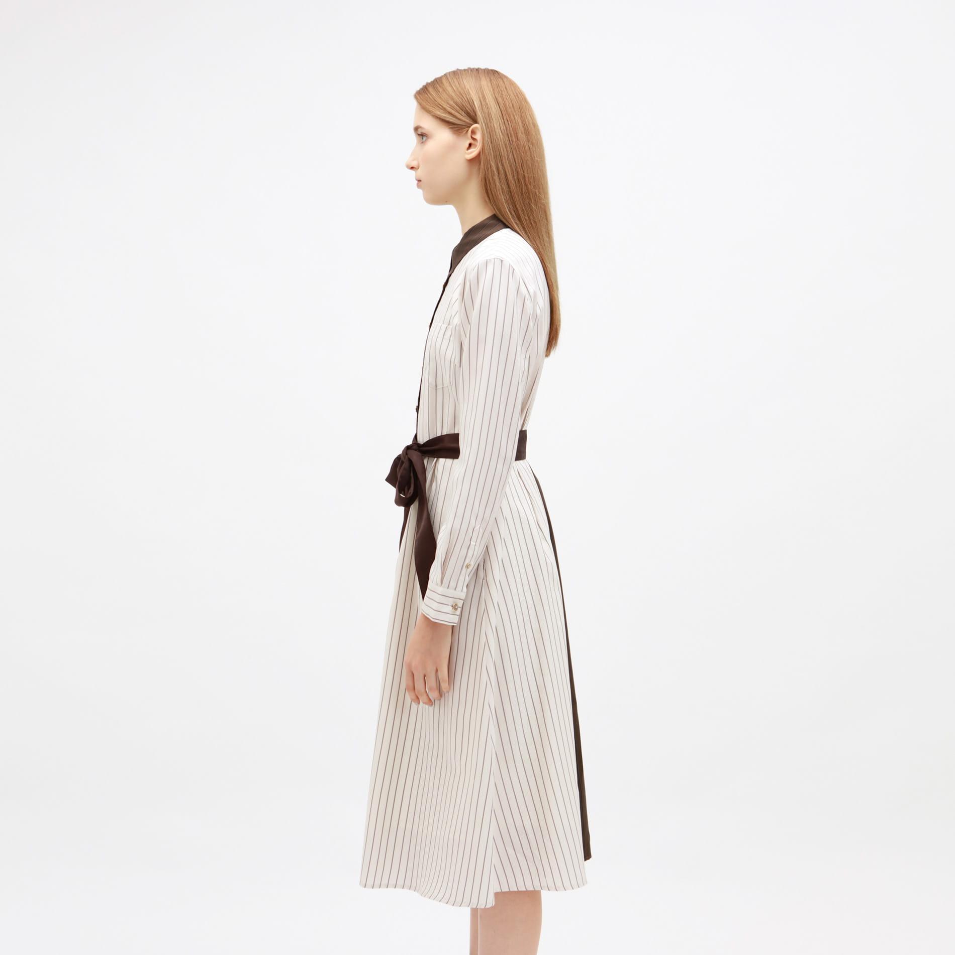 スプリット バイカラー ドレス