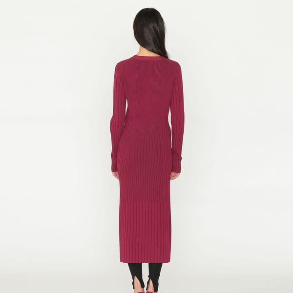 リブニット ドレス