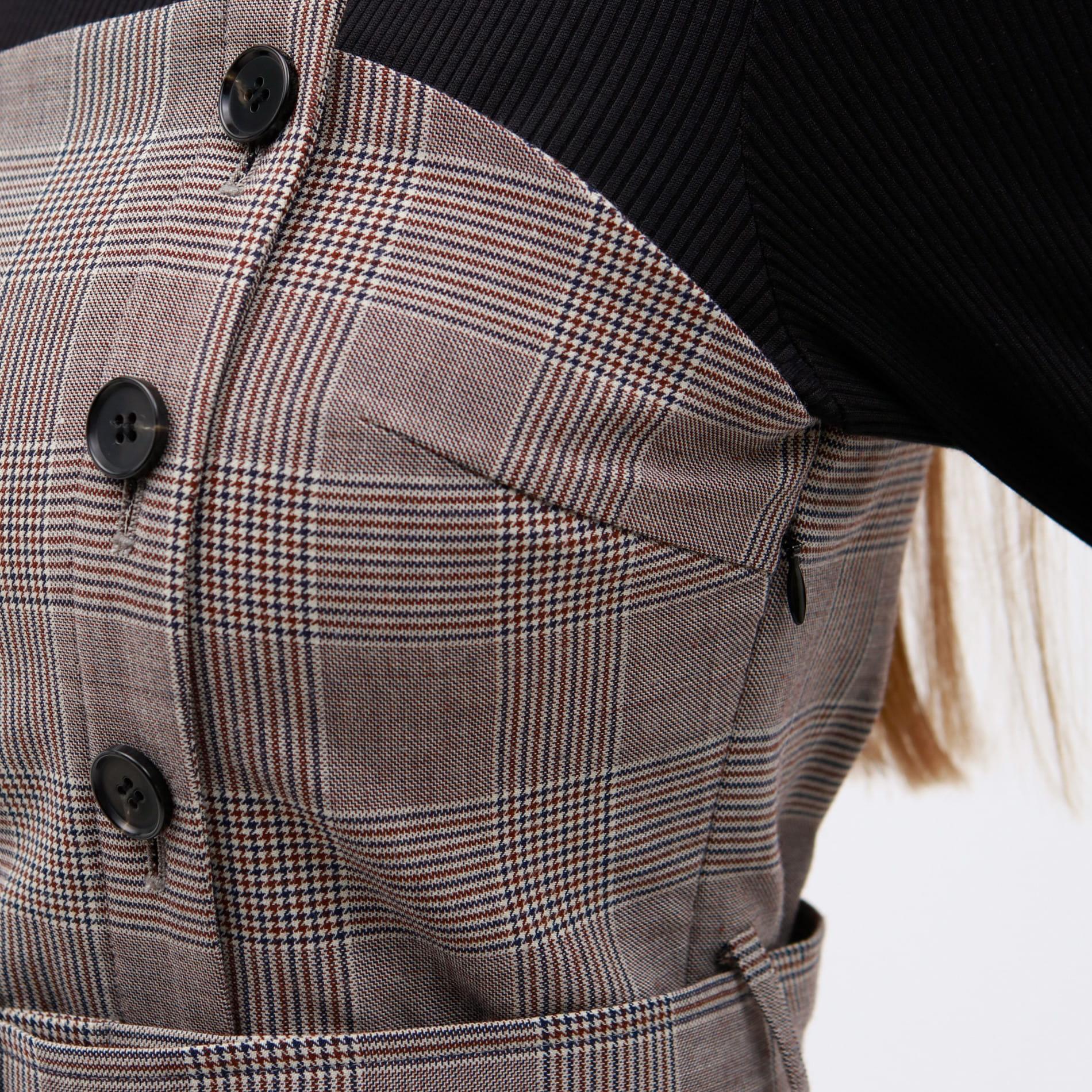 【予約販売】テレコ コンビ モック ドレス