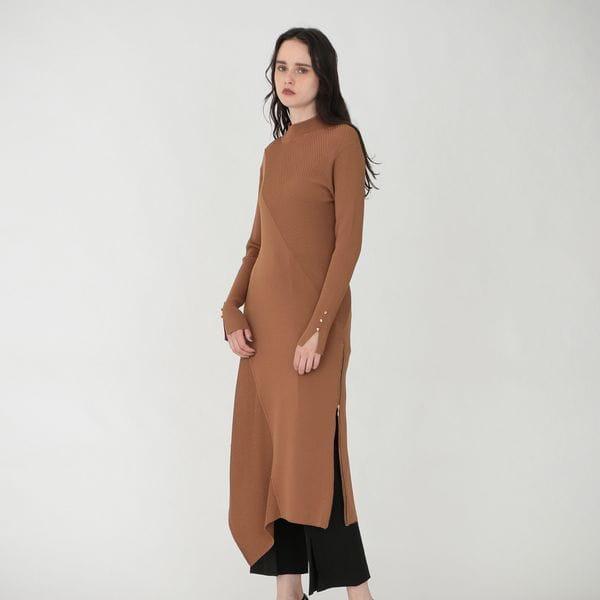 サイドZIP ニット ドレス