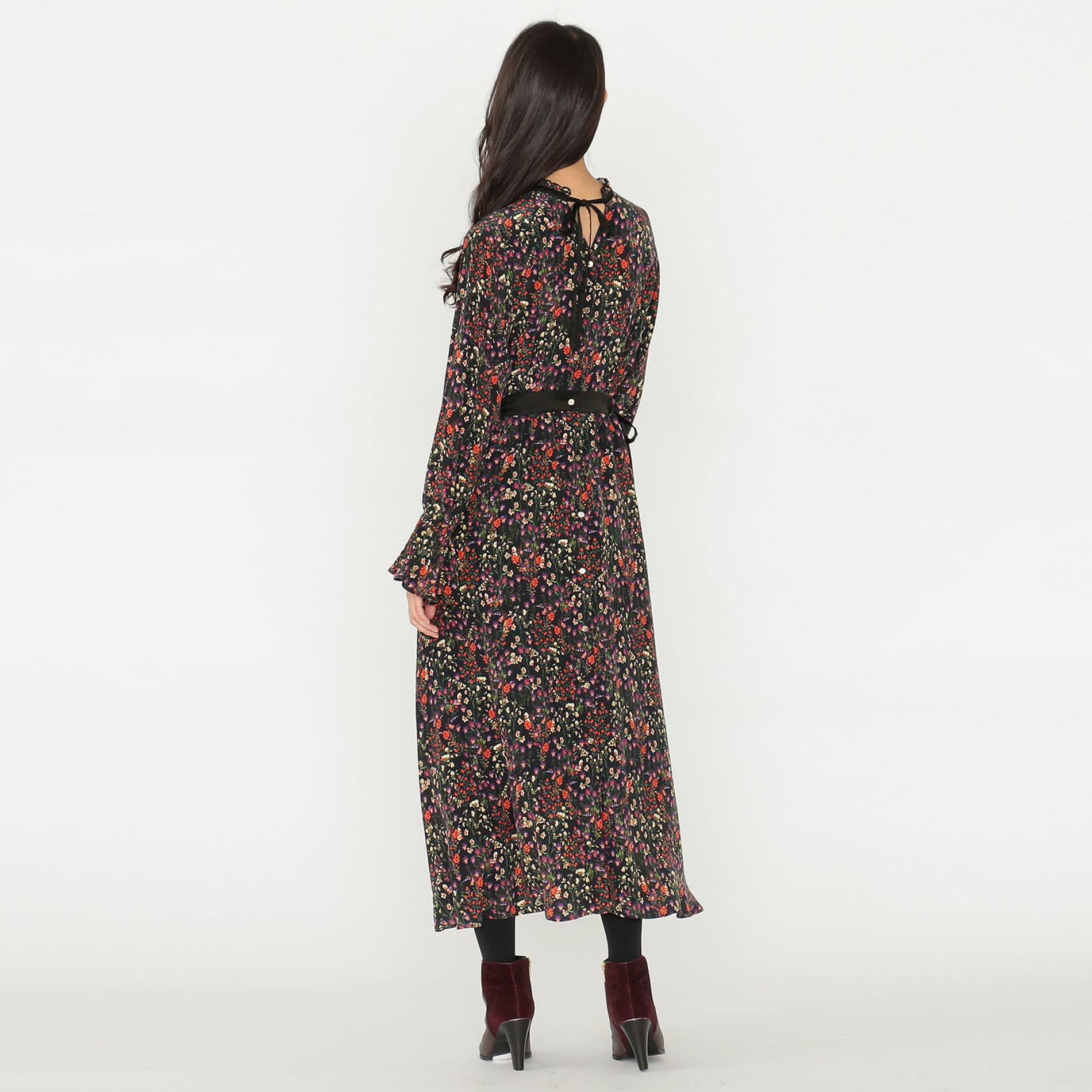 【予約販売】ヴィンテージフラワー シャツドレス