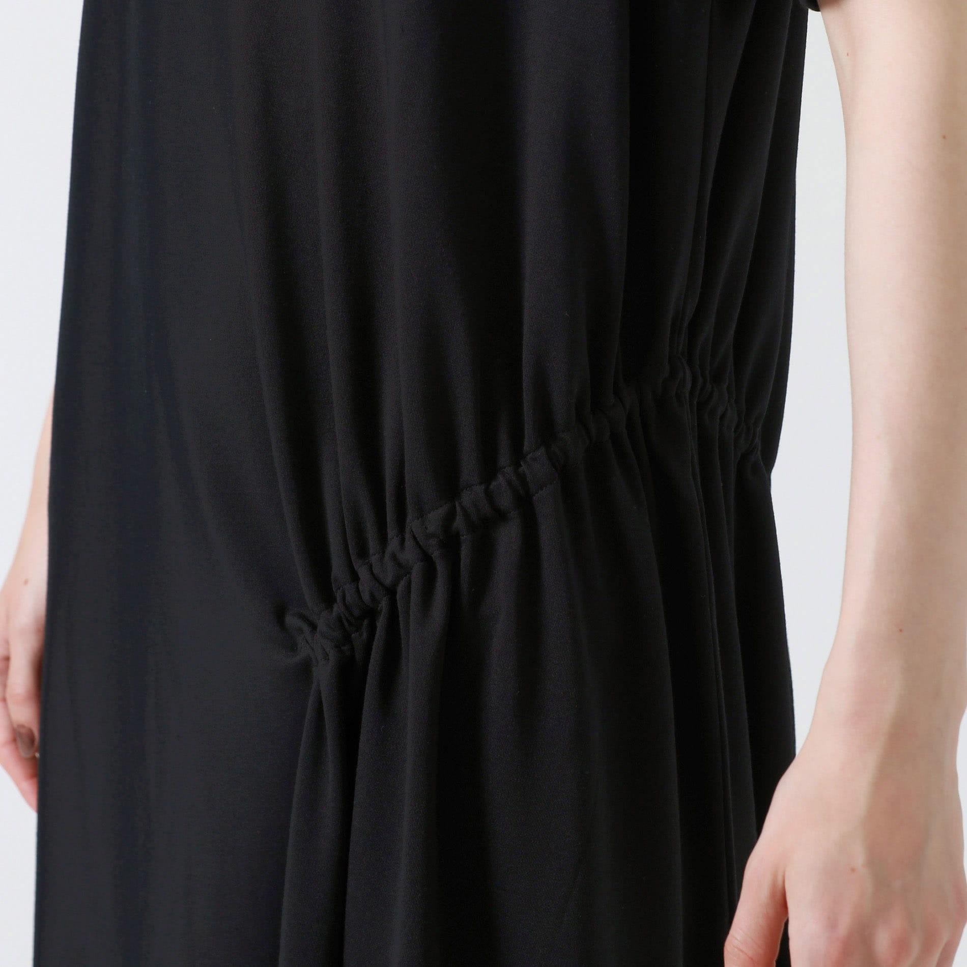 サイドギャザーポンチドレス