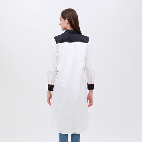 クレリック ロングシャツドレス