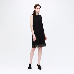 ◆◆【otona MUSE掲載商品】レース レイヤード ニットドレス