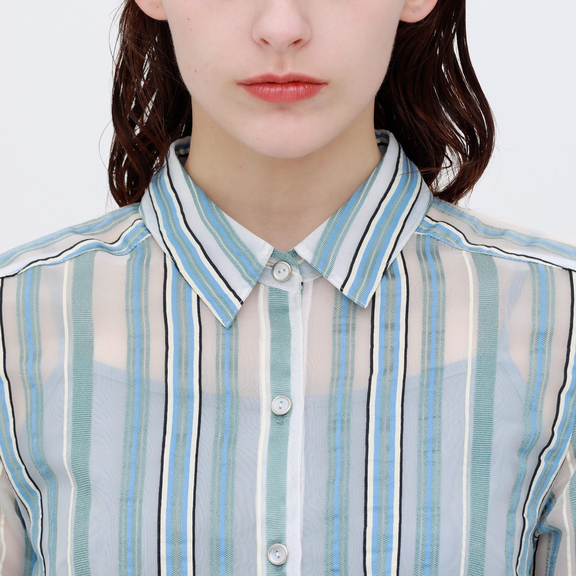 【otona MUSE掲載商品】シアーストライプ ドレス