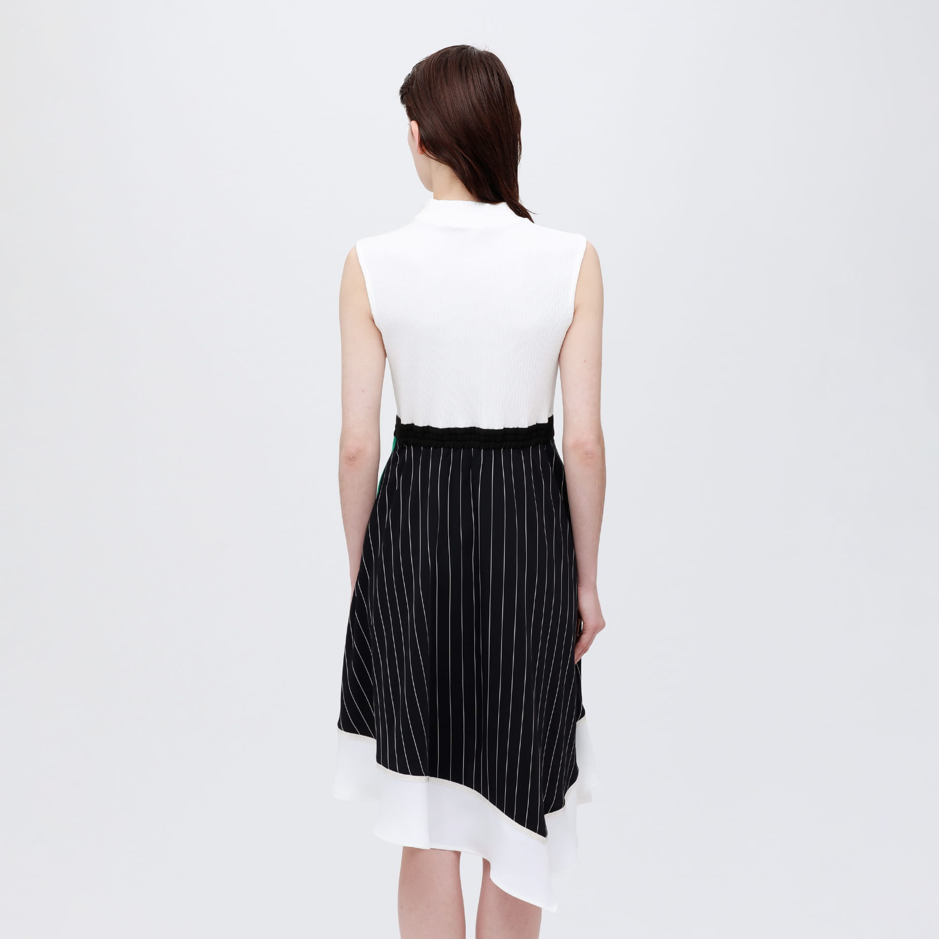 アシンメトリー カラーブロック ドレス