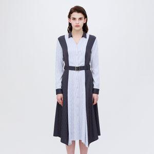 【otona MUSE掲載商品】スプリット ストライプ シャツドレス