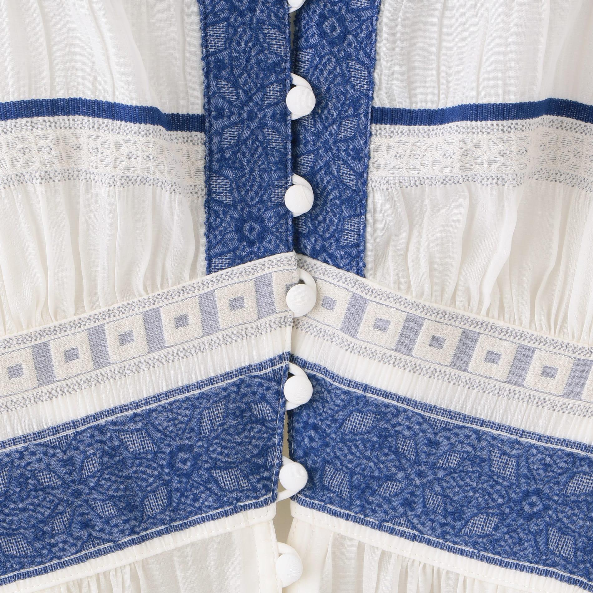 楊柳 ボーダー ドレス