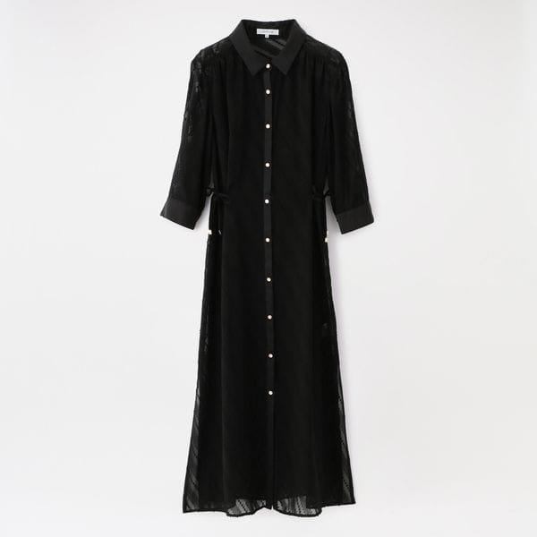 はっ水シアーシャツドレス