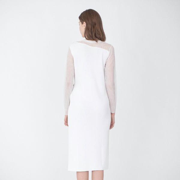 シアーコンビ ニットドレス