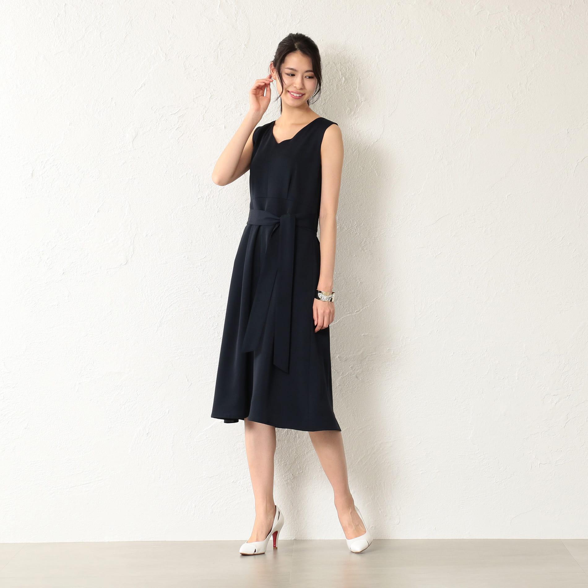 WOMEN マキシレイヤードドレス