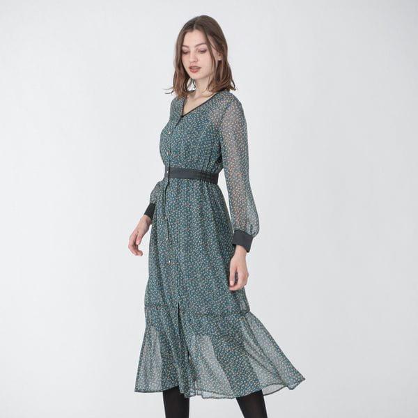 ブルーム ストライプ  ロングドレス
