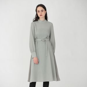 ハイネック ドレープ ドレス