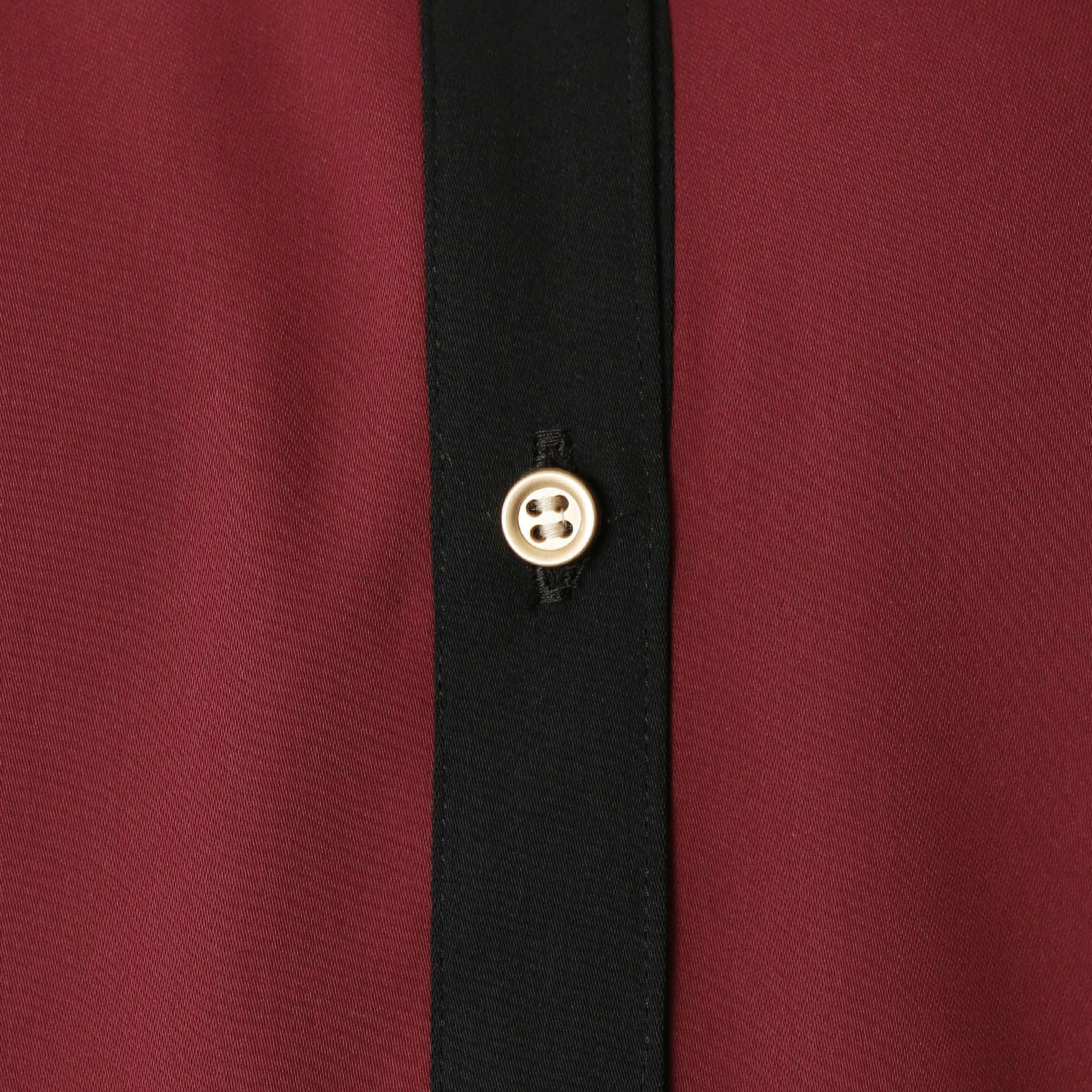 【予約販売】ストライプ コンビ シャツカラードレス