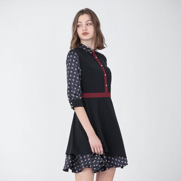 ジオメトリック コンビ ドレス
