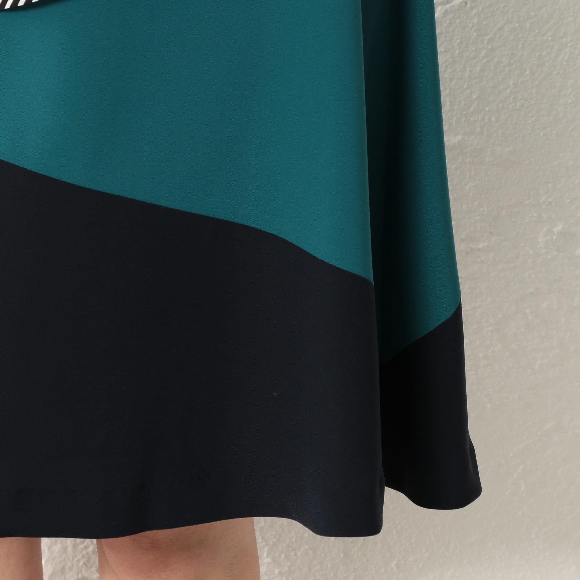 WOMEN カラーブロックドレス