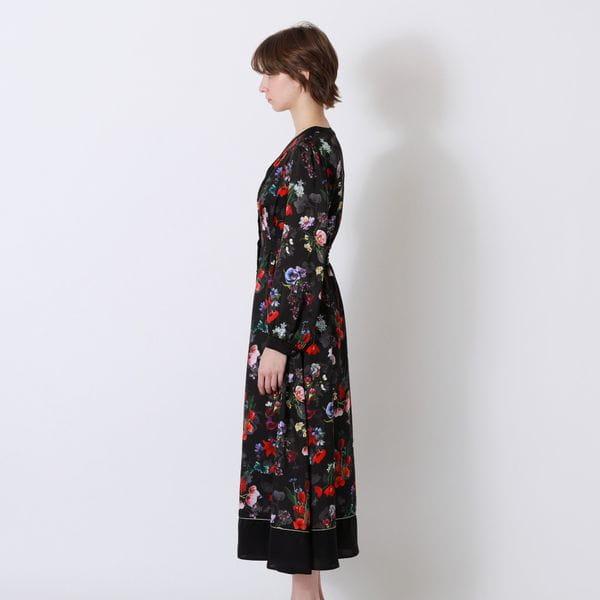 【予約販売】nowartt コンビ マキシ ドレス