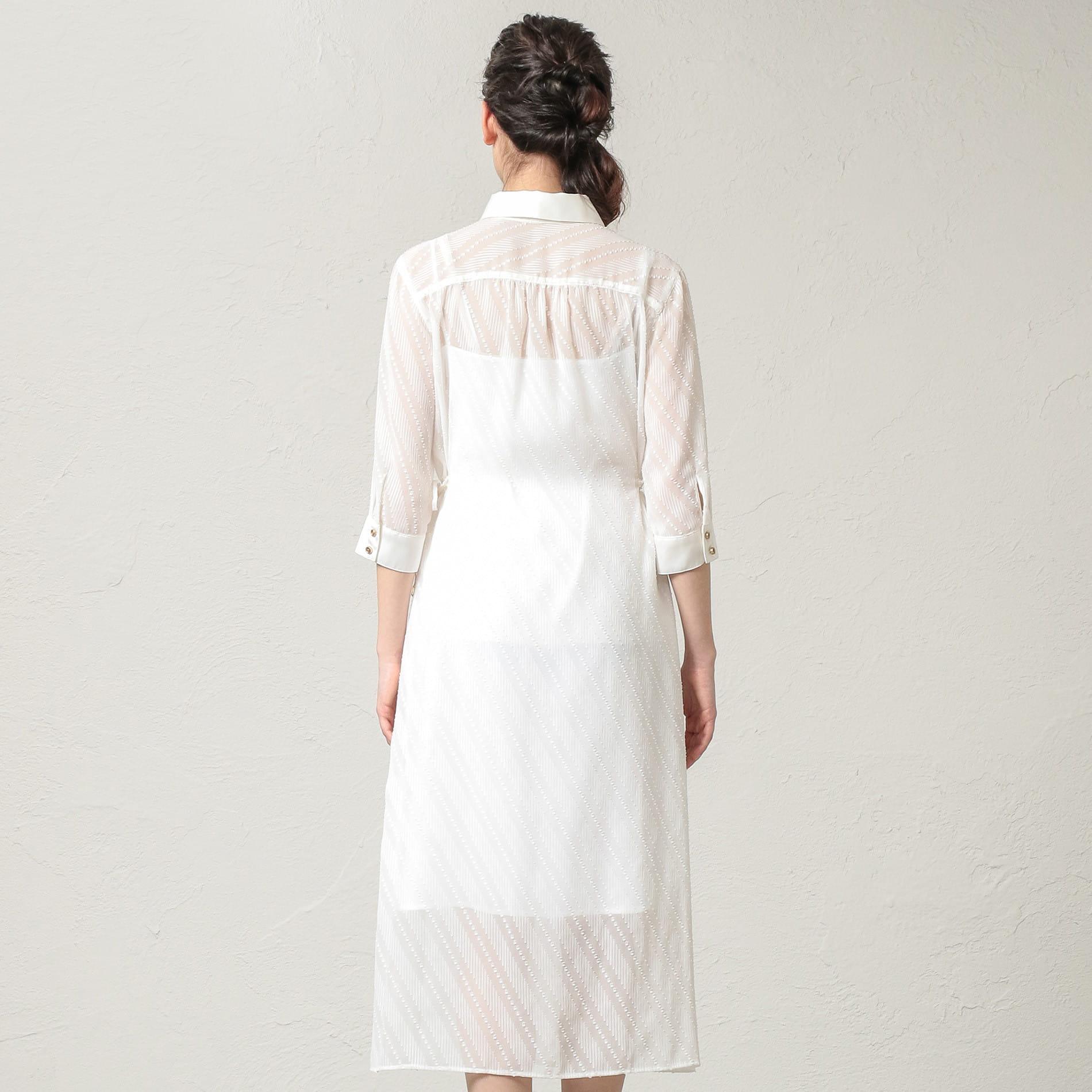 WOMEN はっ水シアーシャツドレス