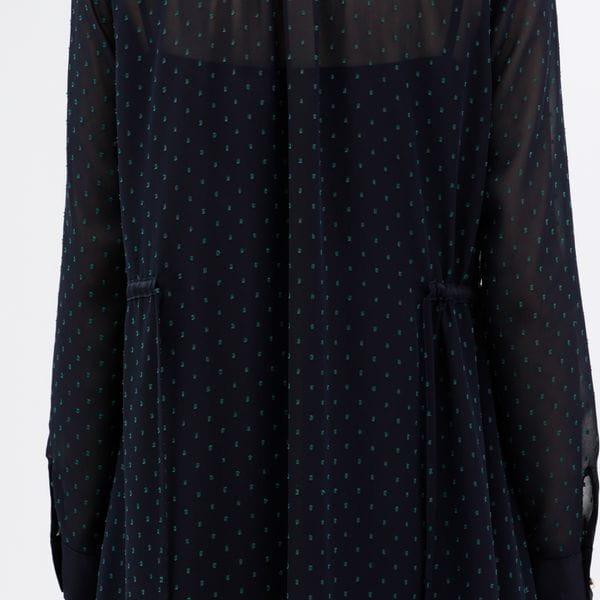 カットジャガード シャツドレス