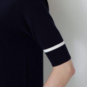 【返品送料無料】ニット プリーツ ドレス