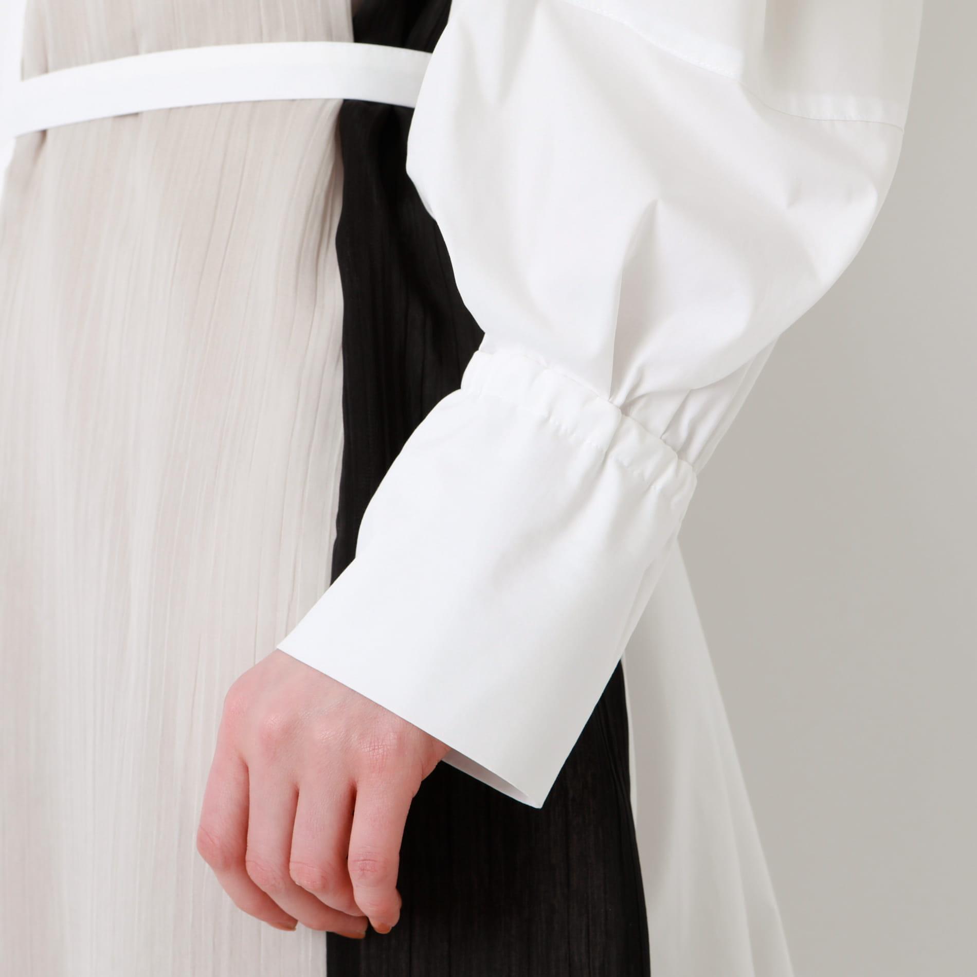 カラーブロック オーバー シャツドレス