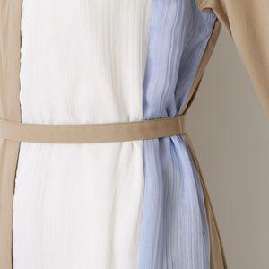 【返品送料無料】カラーブロック オーバー シャツドレス