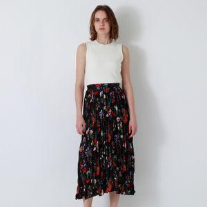【返品送料無料】nowartt ニットプリーツ ドレス
