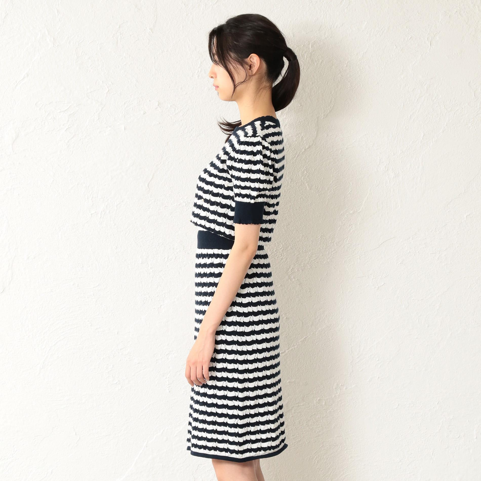 WOMEN パールマリンニットドレス