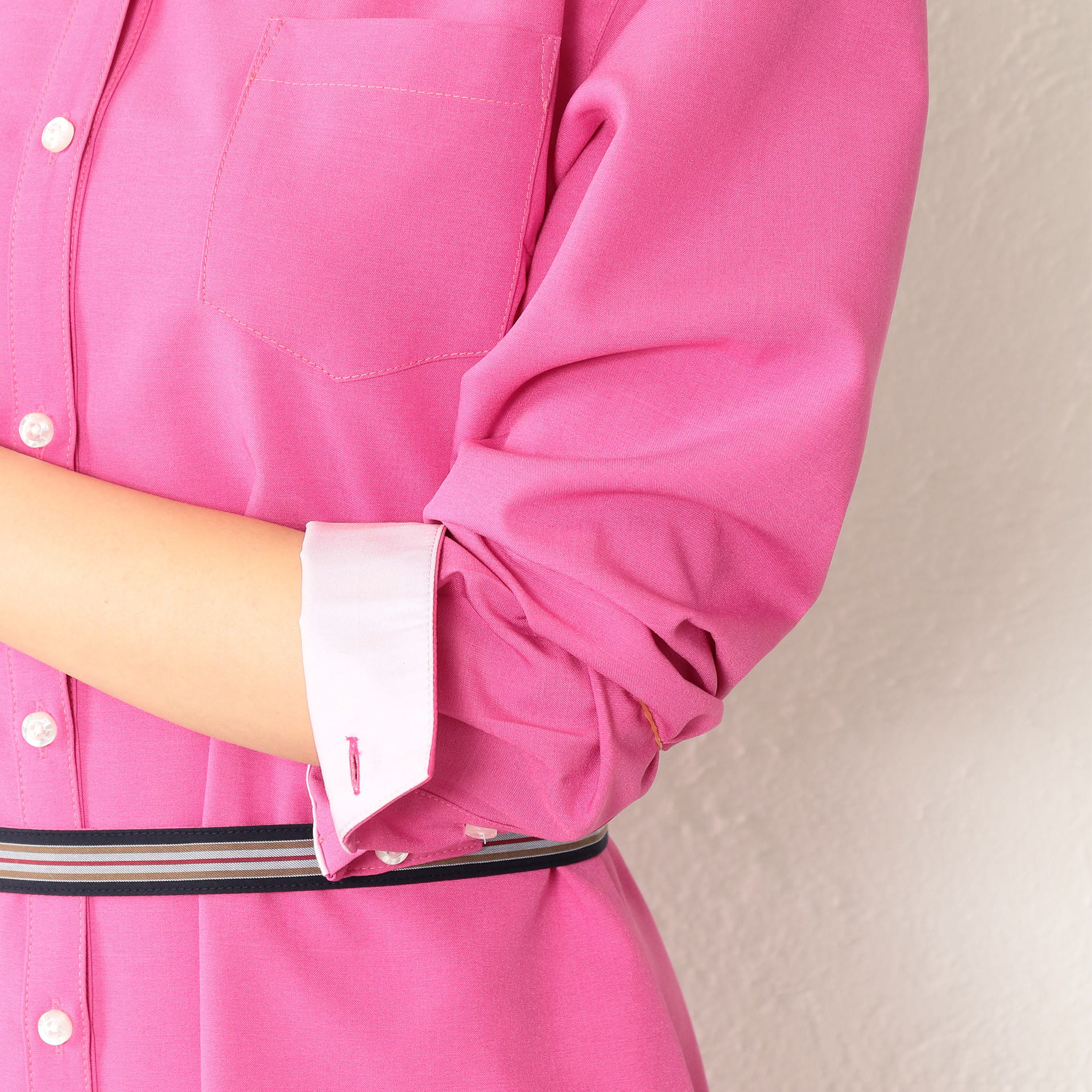 【LOVELESS×otona MUSE】WOMEN リネンライクシャツワンピース