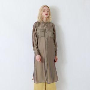 シアーシャンブレーシャツドレス