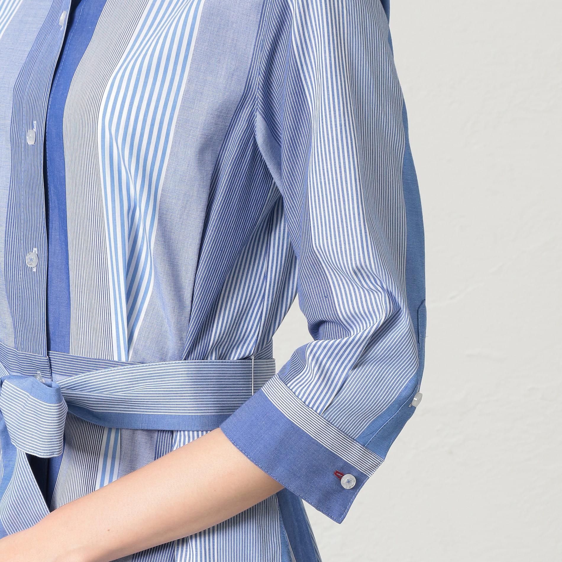 【LOVELESS×otona MUSE】WOMEN マルチストライプシャツドレス