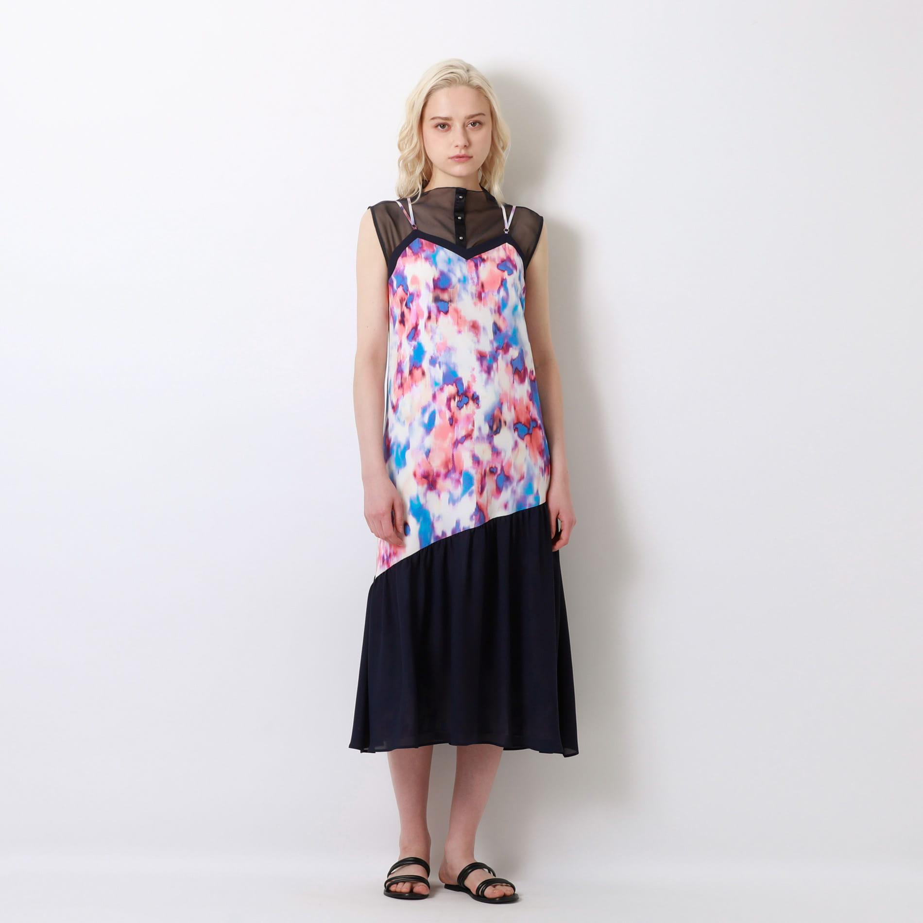 シアーレイヤードドレス