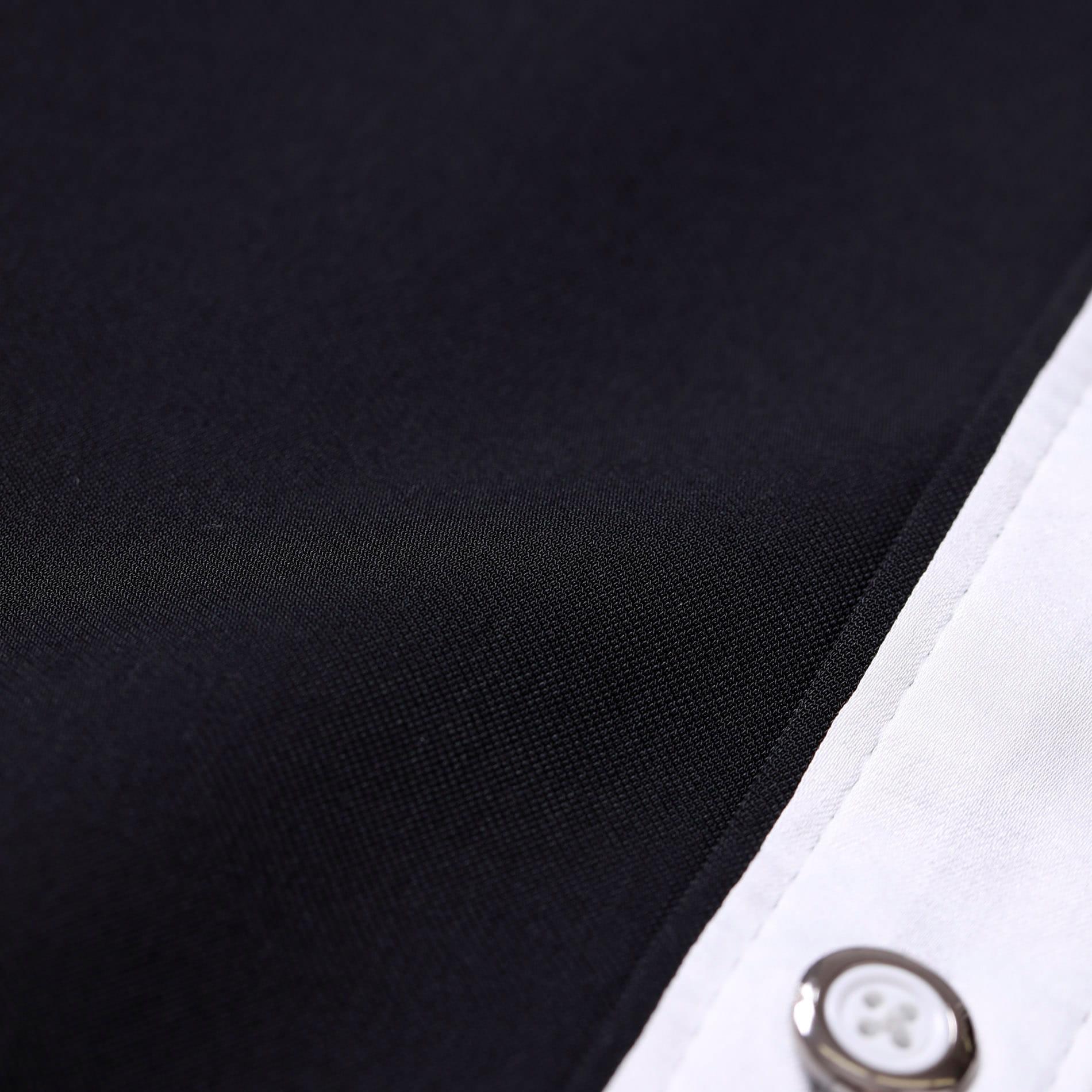 カラー ステッチ 2フェイス シャツ