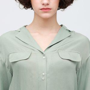 バックスリット オープンカラーシャツ