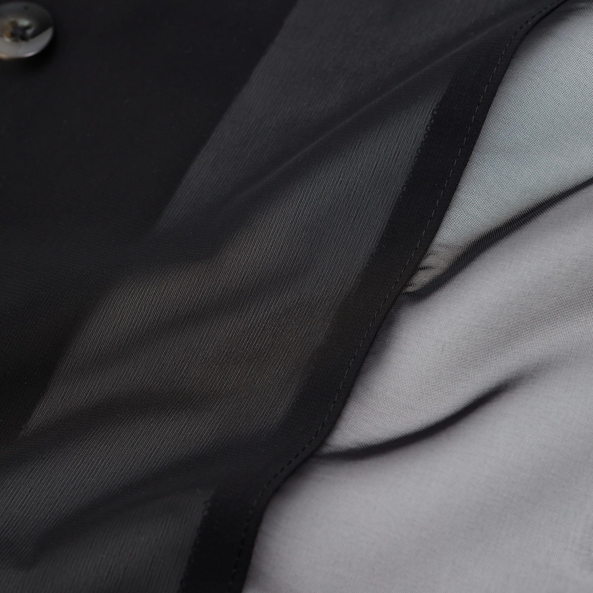 シアー オープンカラーシャツ