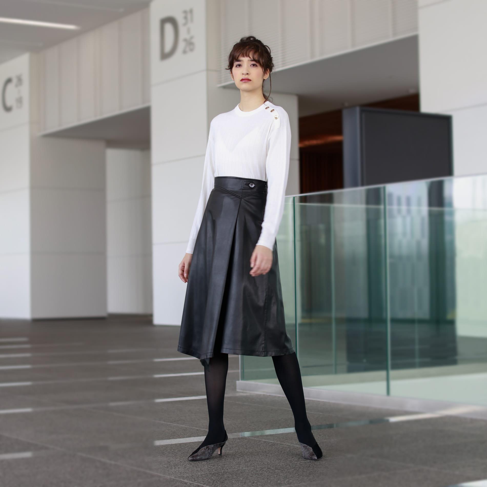 【LoroPiana】14GG ハイゲージクルーネックニット