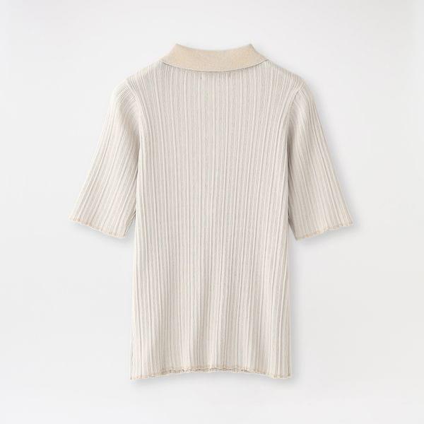 楊柳ニットポロシャツ
