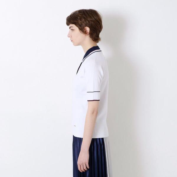 ニットポロシャツ