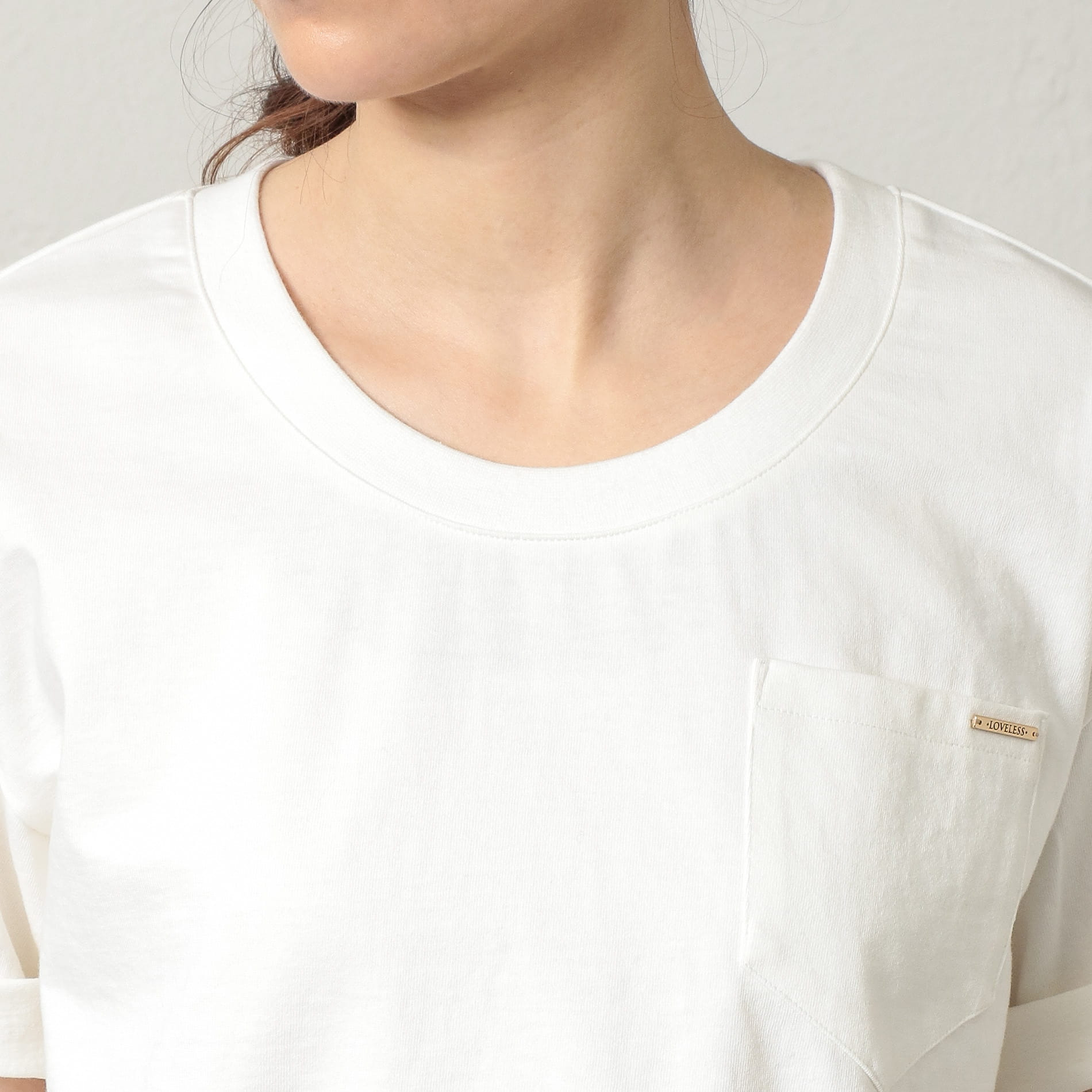 WOMEN はっ水ポケットTシャツ