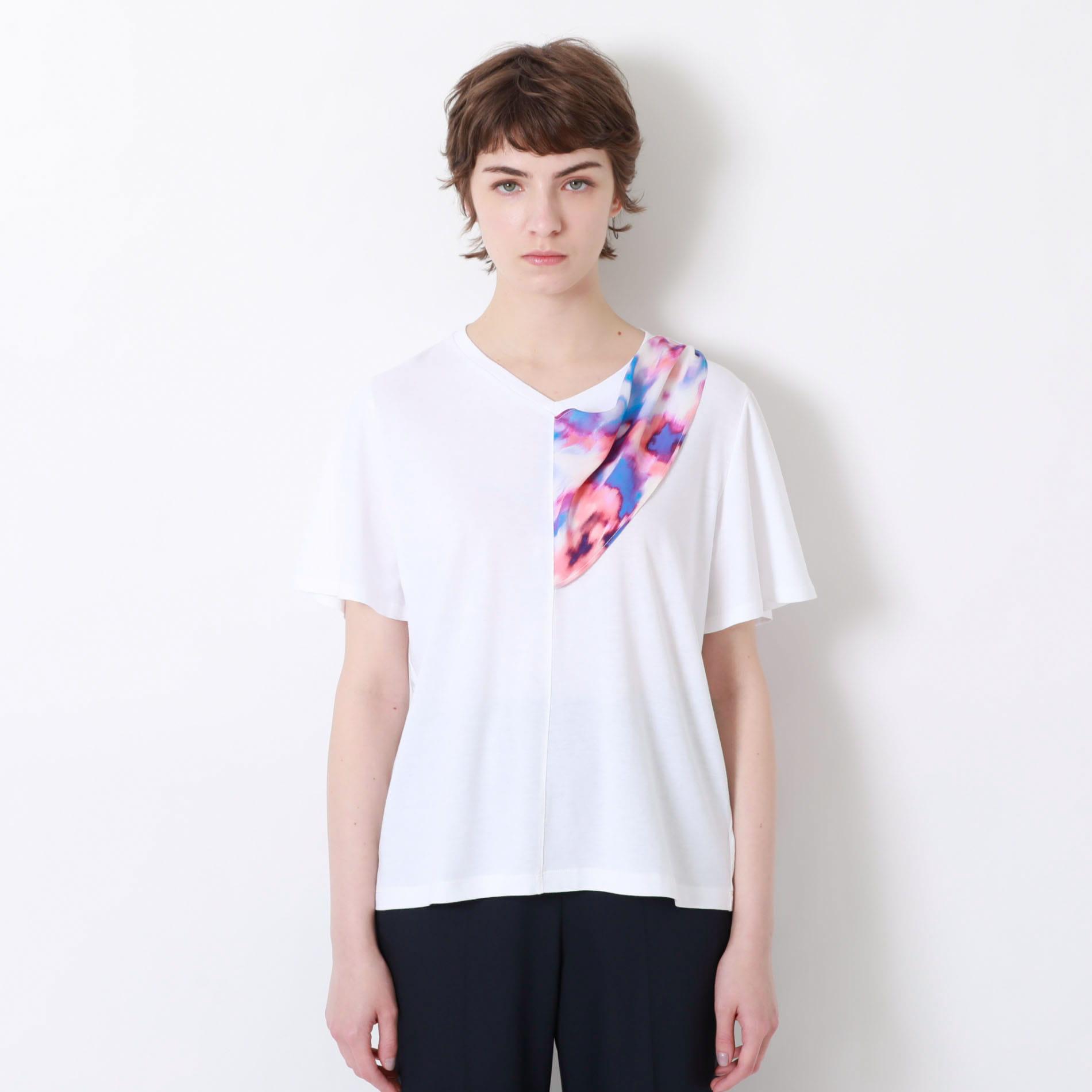 マーブルスカーフTシャツ