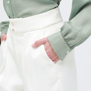 【otona MUSE掲載商品】グロスサテン バレルパンツ