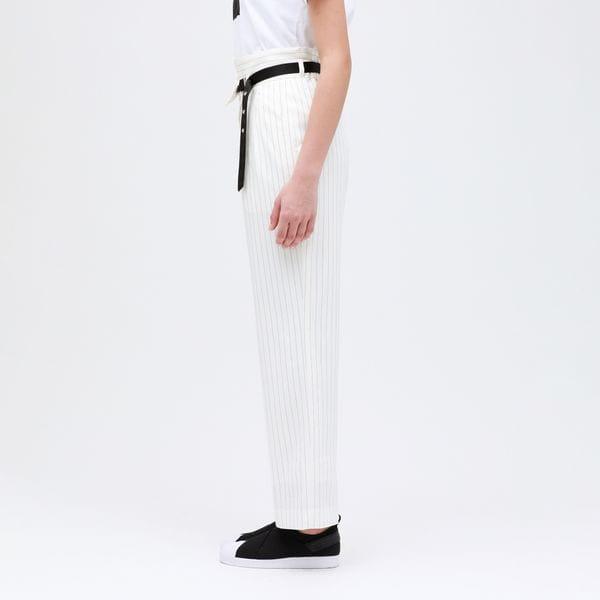 【otona MUSE掲載商品】ピンストライプ ベルテッド パンツ
