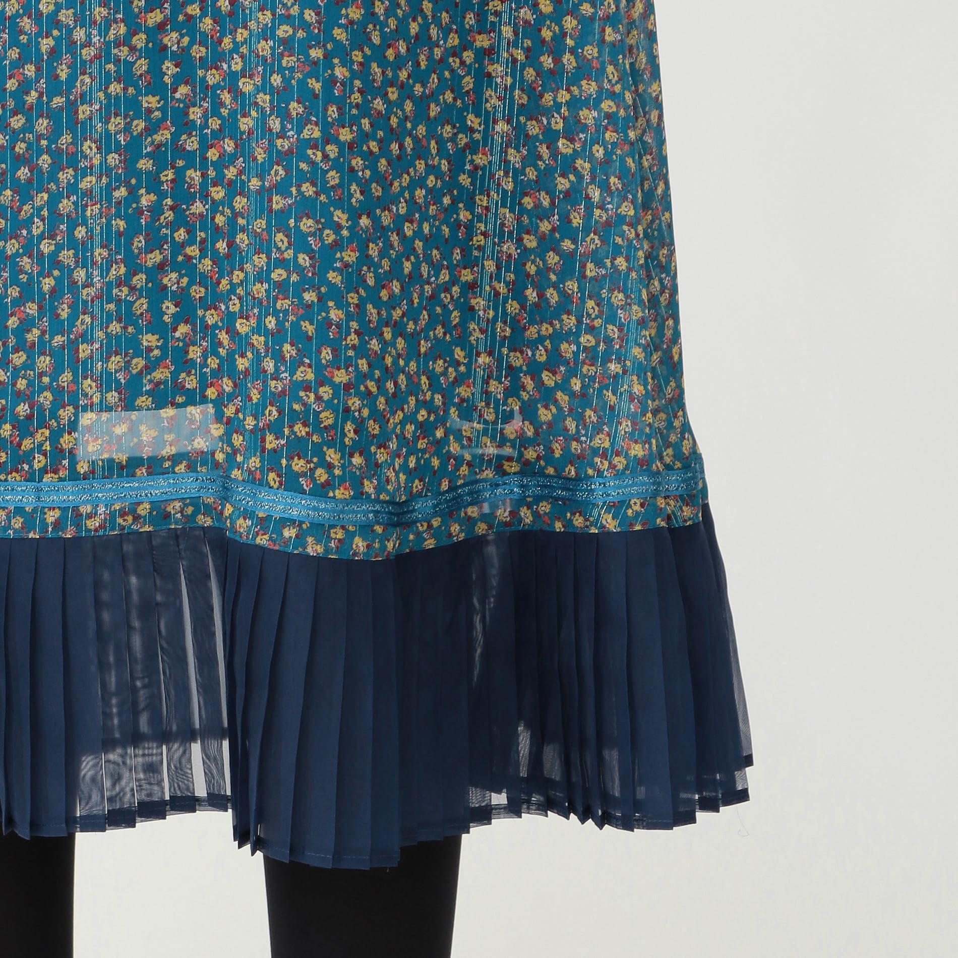 ブルーム ヘムプリーツ スカート