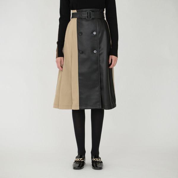 タック トレンチ スカート