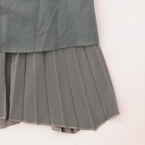 メタリック グラデプリーツ スカート