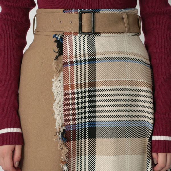 チェックコンビ スカート