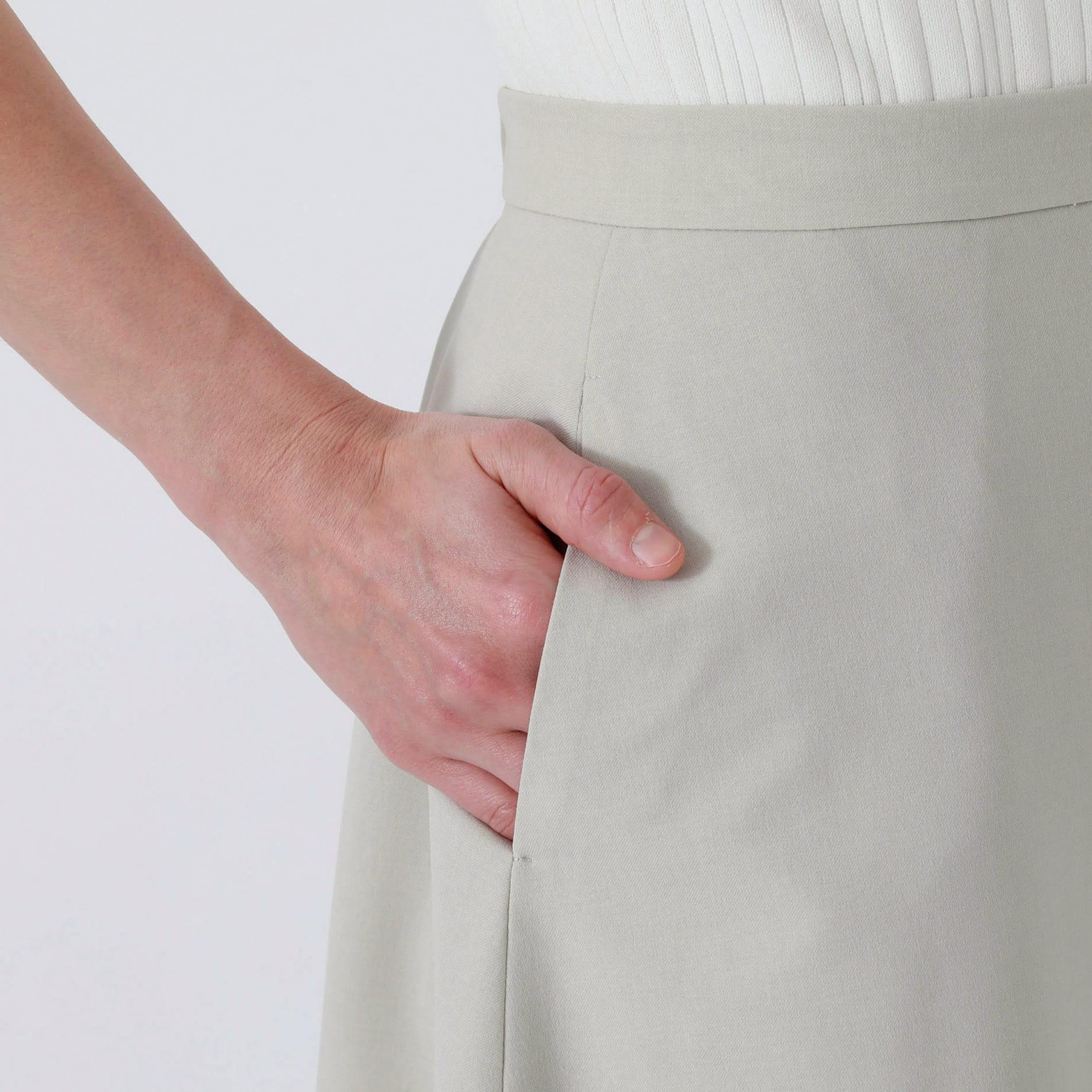 ジオメトリック スカーフ コンビ スカート