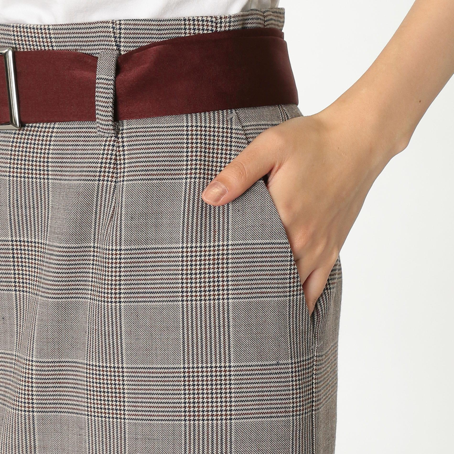 【予約販売】グレンチェック タイトスカート