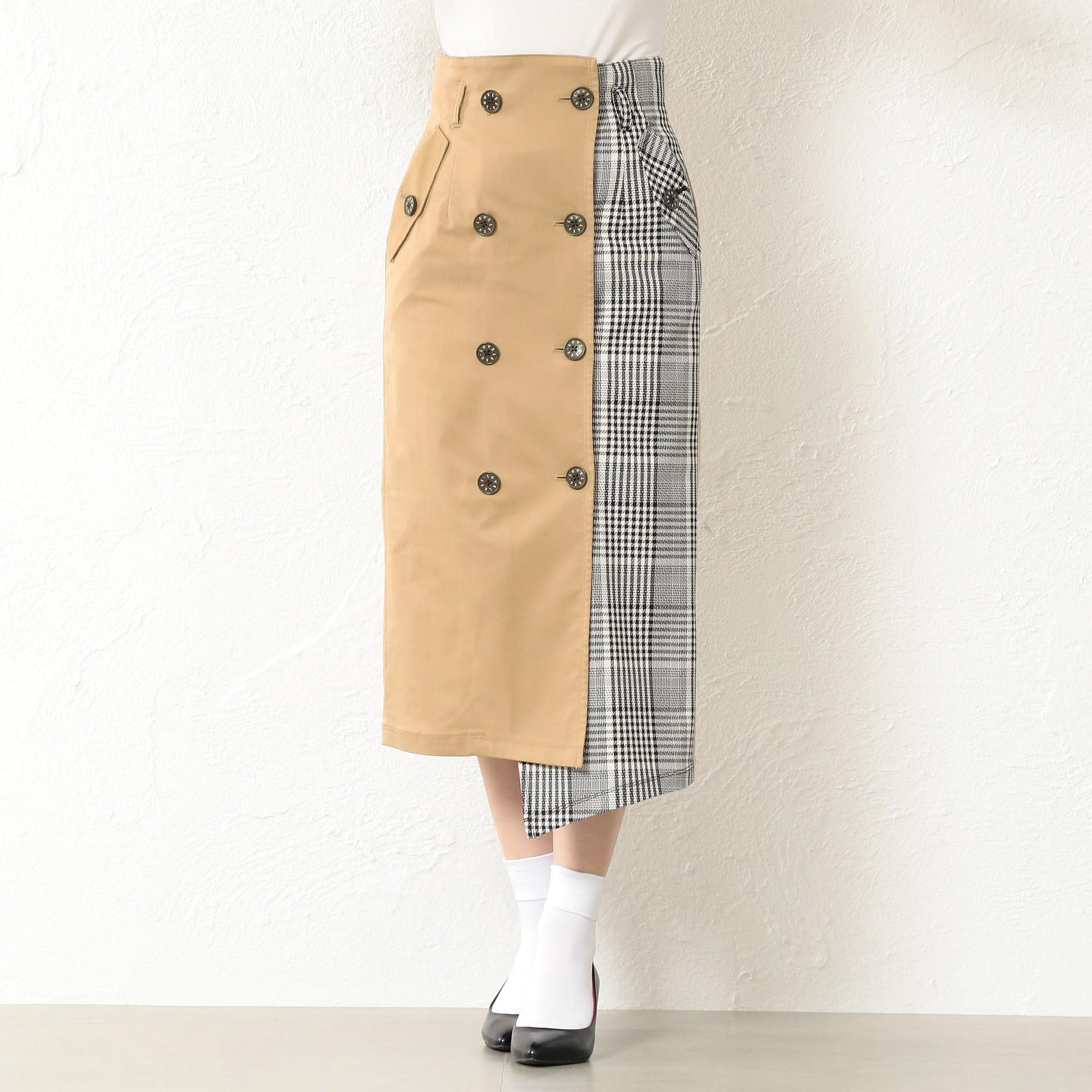 WOMEN トレンチタイトスカート